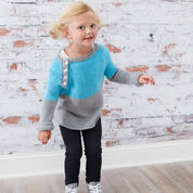 Red Heart School Days Raglan Pullover, 2 yrs