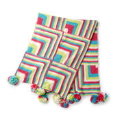 Go to Product: Red Heart Happy Mitered Squares Knit Throw in color