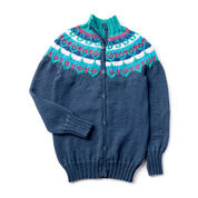 Go to Product: Caron x Pantone Fair Isle Knit Yoke Cardigan, XS/S in color