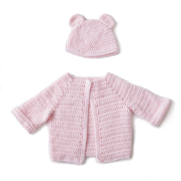 Bernat Crochet Baby Jacket Set Newborn Yarnspirations