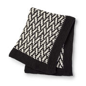 Bernat Mosaic Herringbone Knit Throw