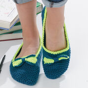 Caron Bow Tie Slippers, Size 5-6