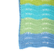 Red Heart Cool Breeze Baby Ripple Blanket
