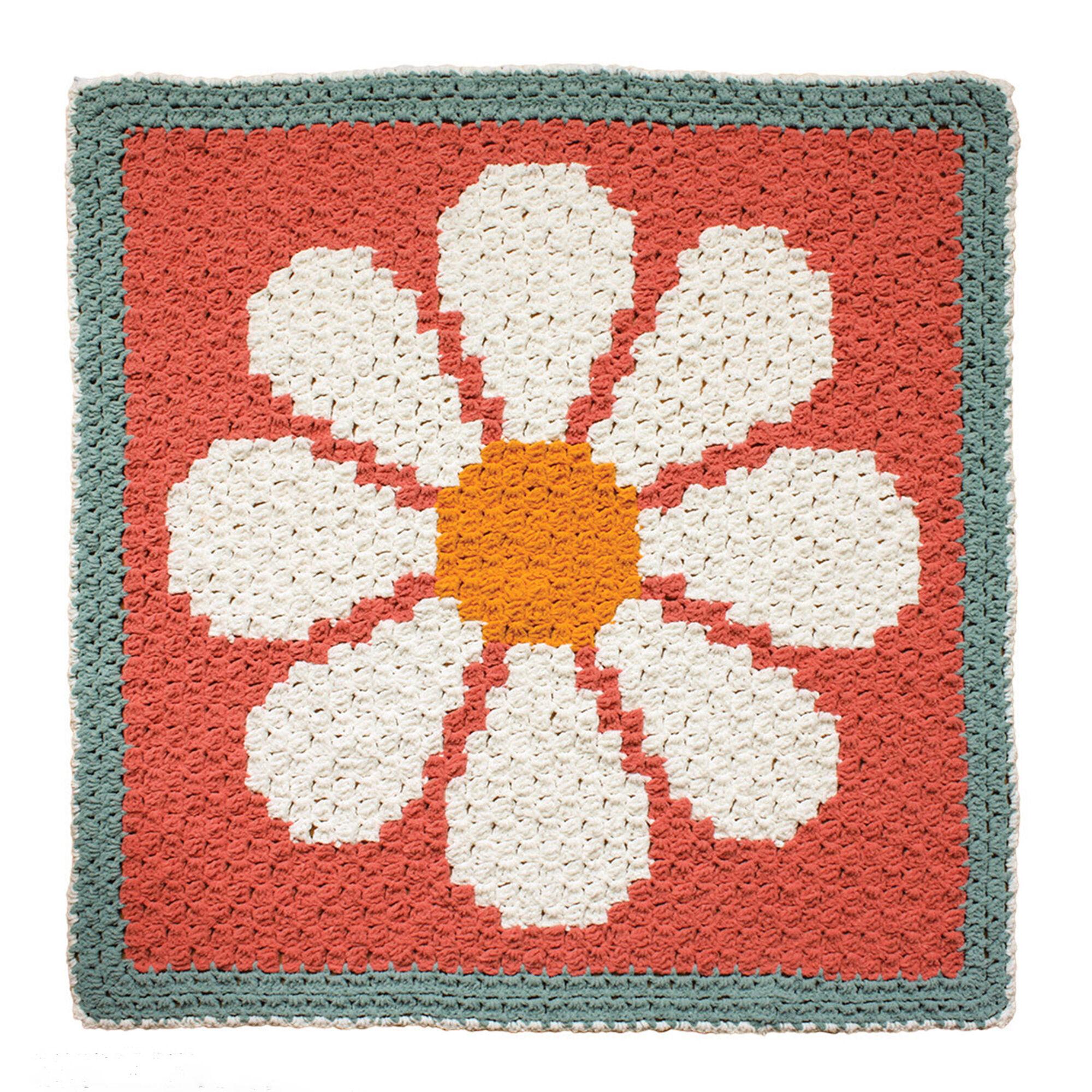 Bernat Daisy C2c Crochet Blanket Yarnspirations