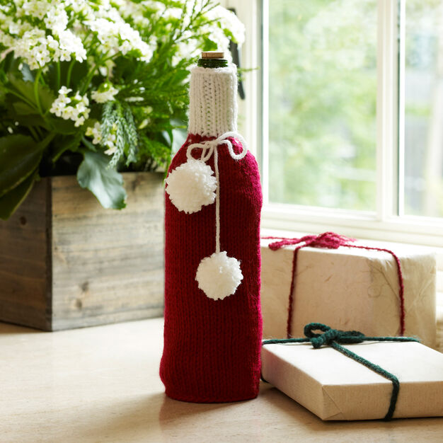 Red Heart Wrap Your Bottle Cozy in color