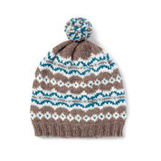 Patons Frosted Fair Isle Knit Hat