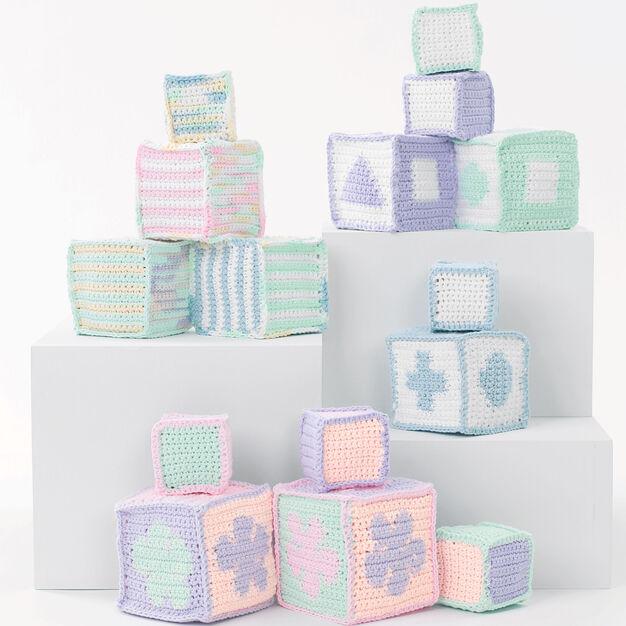 Lily Sugar'n Cream Baby's Blocks, Graphic Blocks in color