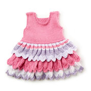 Bernat Layer Cake Knit Dress, 6 mos