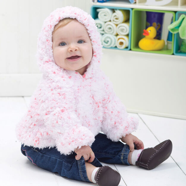 Red Heart Huggable Hoodie, 3/6 mos in color