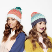 Caron x Pantone Knit Fair Isle Hat, Version 1