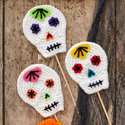 Red Heart Skull Party Sticks & Pompoms