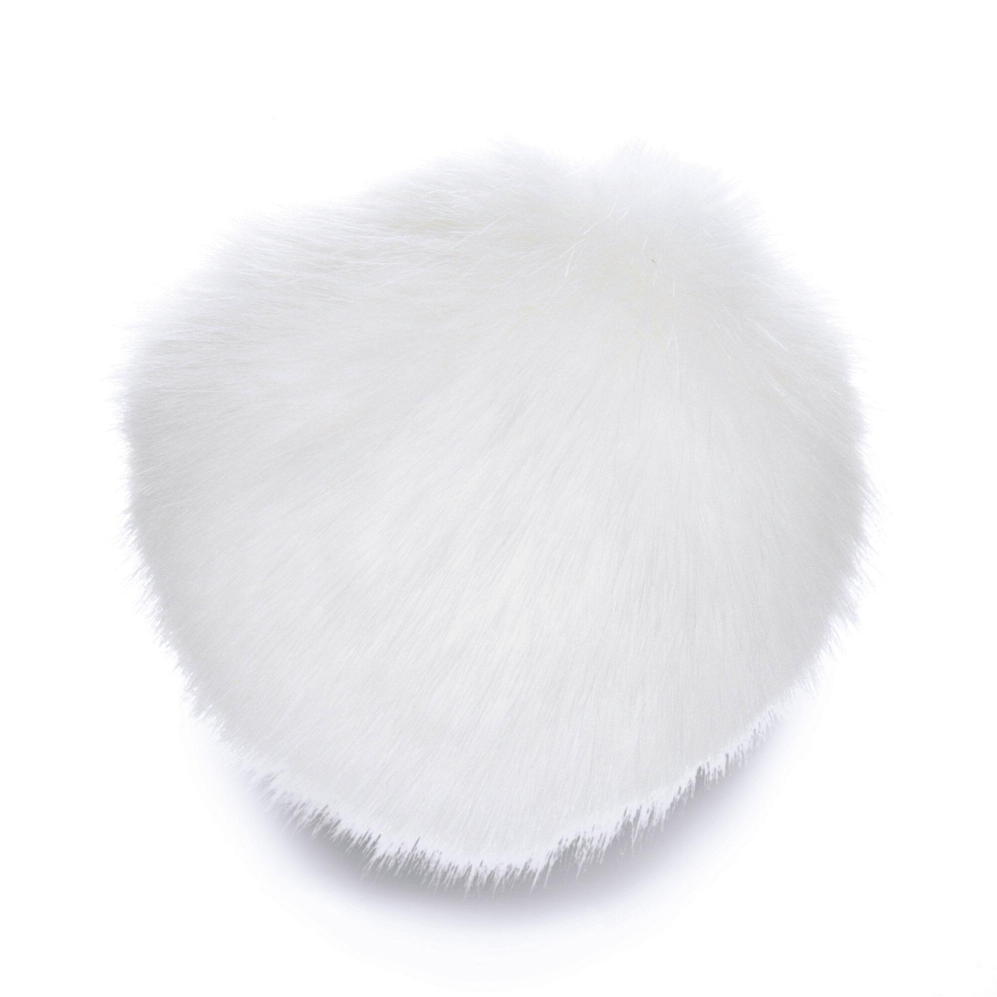Pompom Keychain Shoe Clips DIY 5 Pieces Smoke Grey Faux Rabbit Fur Pom Poms,6 8 10m Lovely Faux Fur Pompoms For Crochet Knitting Hat