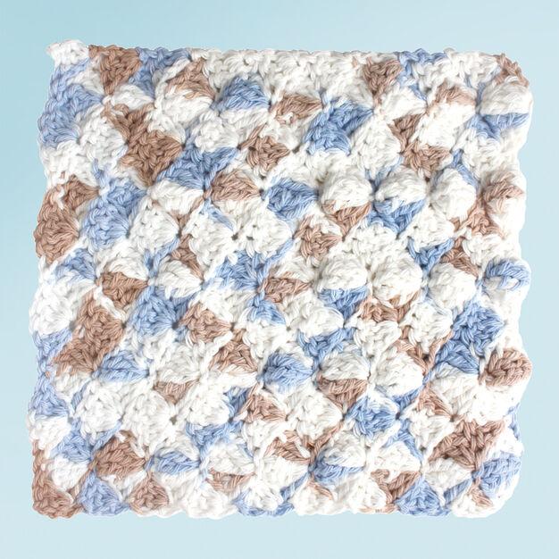 Lily Sugar'n Cream Shell Stitch Dishcloth in color