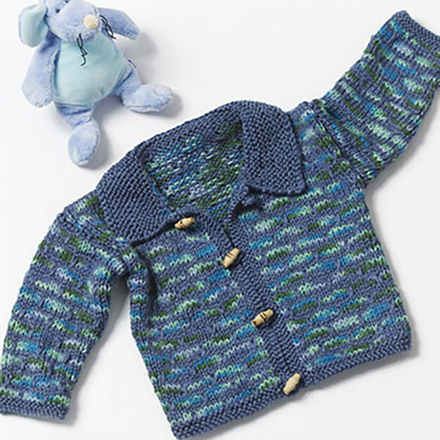 Caron Toddler Sweater, 12 mos in color