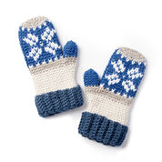 Caron x Pantone Fair Isle Crochet Mittens