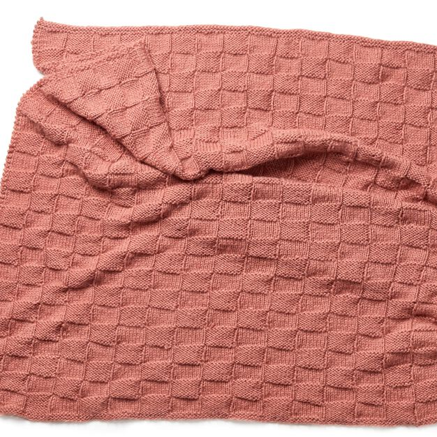 Red Heart Cozy Blocks Throw in color