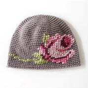 Bernat Coming Up Roses Hat