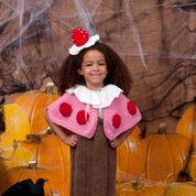 Red Heart Cupcake Cutie Costume, 2 yrs