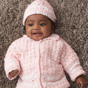 Patons Daisy Chain Cardigan & Hat, 6 mos