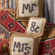 Red Heart Mr. & Mrs. Pillows