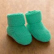 Go to Product: Red Heart Garter Stitch Baby Booties, 6 mos in color