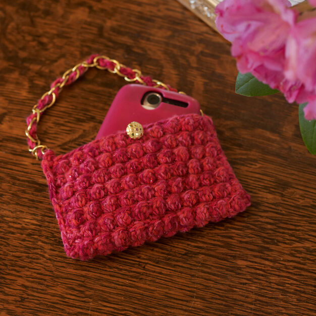 Red Heart Mobile Phone Baglet in color