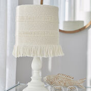 Red Heart Coastline Lampshade Cover