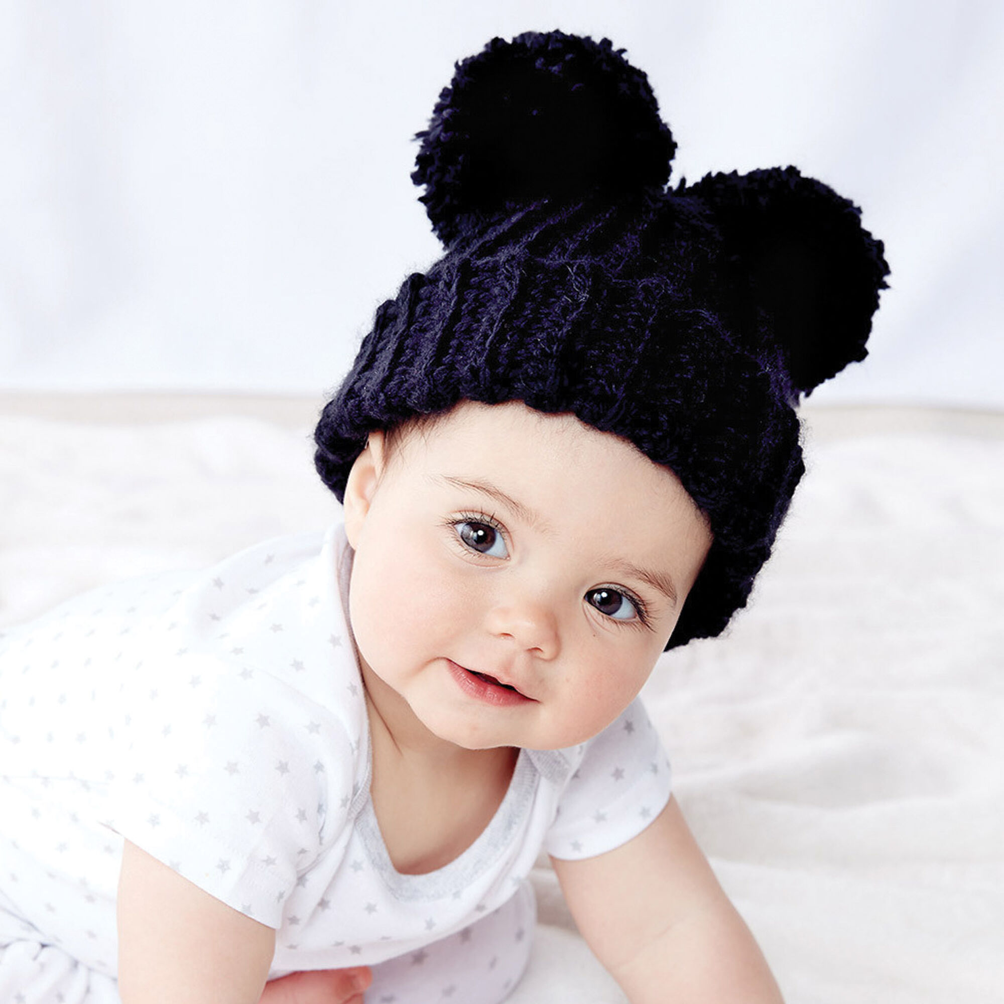 9dc3b47bffd ... Bernat Adorable Pompom Crochet Hat