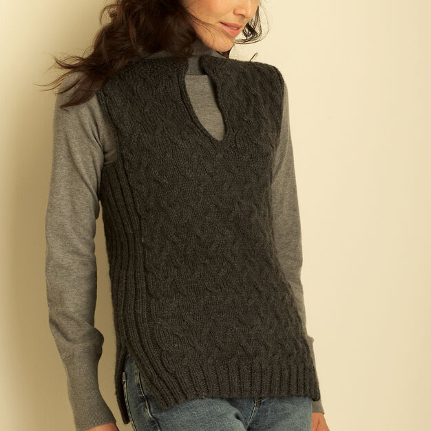 Bernat Cable Vest, XS/S in color