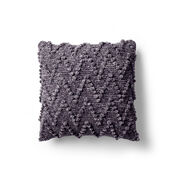Bernat Chevron Bobble Velvet Pillow
