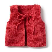 Bernat Wee Knit Vest, 6 mos