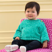 Red Heart Simple & Soft Baby Pullover, 12 mos