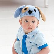 Red Heart Puppy Dog Hat