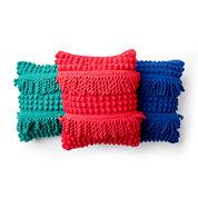 Bernat Bobble Fringe Crochet Pillow, Malachite