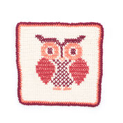 Go to Product: Lily Sugar'n Cream Owl Cross Stitch Dishcloth in color