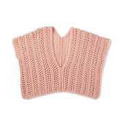 Caron x Pantone Just Peachy Crochet Tank, XS/S/M