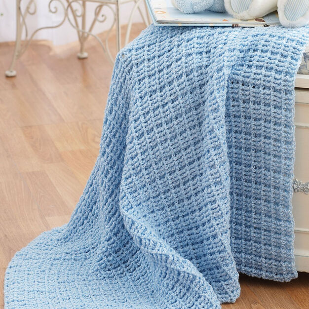 Bernat Crochet Baby Blanket in color