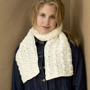 Red Heart Cable Crochet Scarf