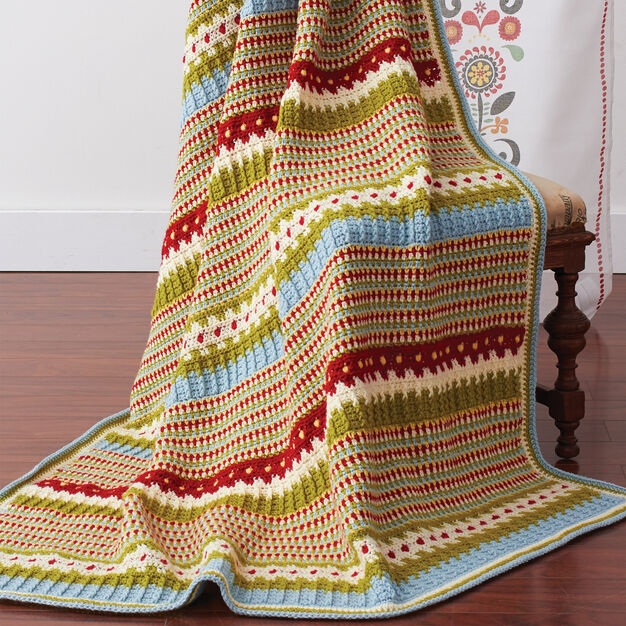 Patons Country Fresh Blanket in color