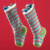 Bernat Jolly Striped Stockings