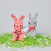 Red Heart Beatrice & Basil Crochet Bunnies, Solid Bunny