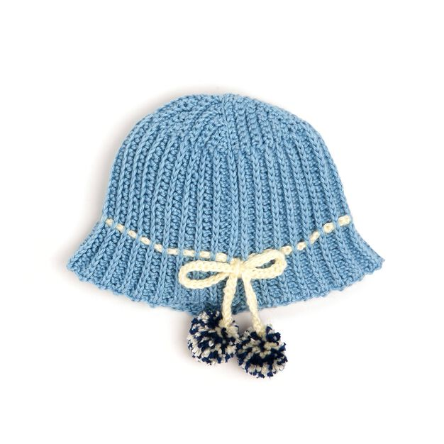 Caron SS Crochet Ribbing Hat in color