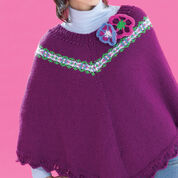 Go to Product: Bernat Fair Isle and Flowers Poncho, XS-M in color