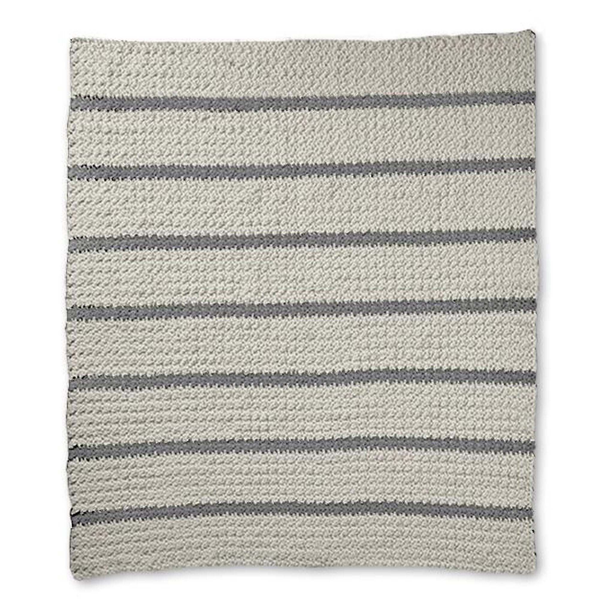Bernat Pin Stripe Crochet Blanket Yarnspirations
