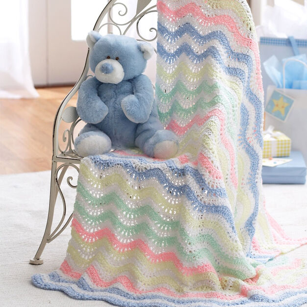 Bernat Ripple Blanket in color
