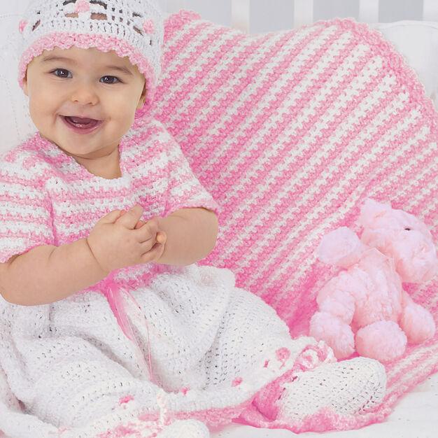 Bernat Sweet Striped Mini Blanket