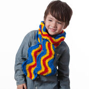 Red Heart Brilliant Kids Ripple Scarf
