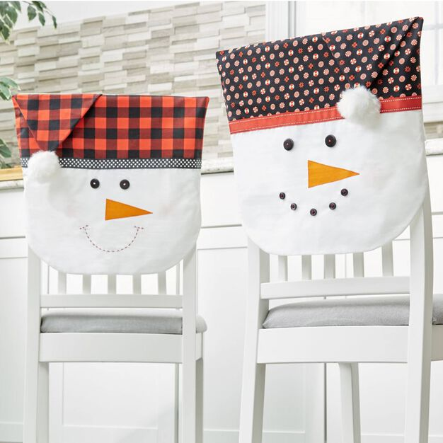 Dual Duty Snowmen Chair back Covers in color
