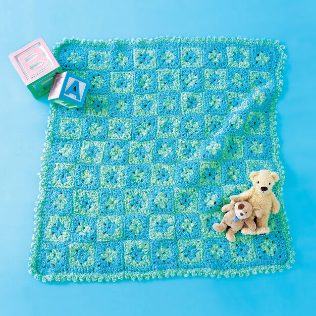 Red Heart Crochet Baby Play Mat in color