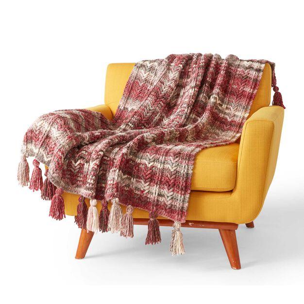 Bernat Rustic Textures Crochet Blanket in color